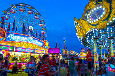 Photograph - The Merry Midway by Mark Andrew Thomas