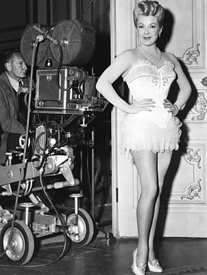 On Set Photograph - The Merry Widow, Lana Turner On Set by Everett