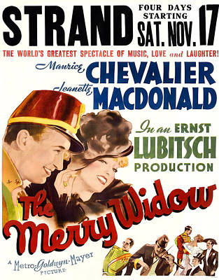 The Merry Widow, Us Poster, From Left Art Print