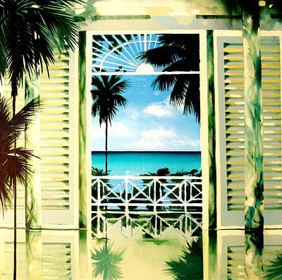 Barbados Painting - The Messel Suite by Andrew Hewkin