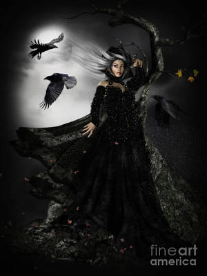 Raven Digital Art - The Messengers by Shanina Conway