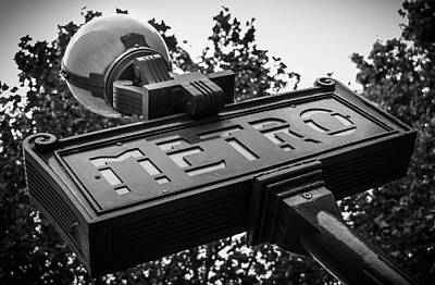 Photograph - The Metro Sign Paris by Marinus Ortelee