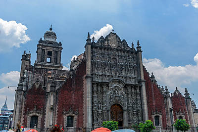 Photograph - The Metropolitan Cathedral Of The Assumption Of Mary Of Mexico City by Marek Poplawski