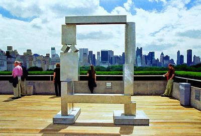 Photograph - The Metropolitan Museum Of Art Roof Garden  by Allen Beatty