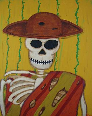 Painting - The Mexican by Mario MJ Perron