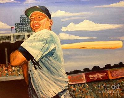Mickey Mantle Painting - The Mick by Jeremy Nash