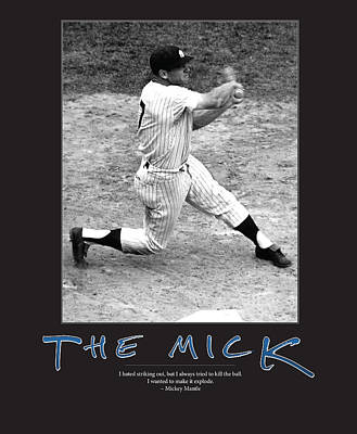 Mickey Mantle Vintage Photograph - The Mick Mickey Mantle by Retro Images Archive
