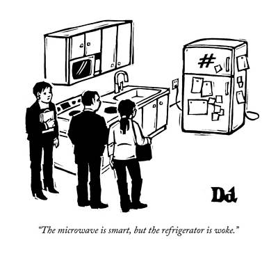 Real Drawing - The Microwave Is Smart by Drew Dernavic