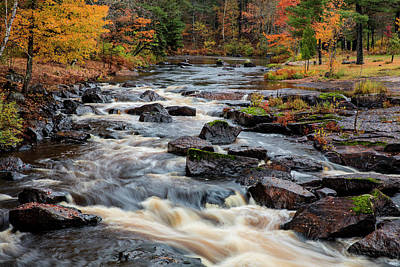 Marquette Wall Art - Photograph - The Middle Branch Of The Escanaba River by Chuck Haney