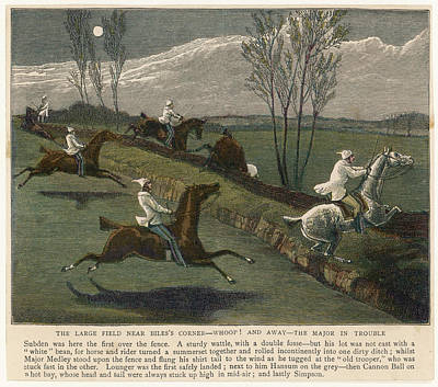 Fence Drawing - 'the Midnight Steeplechase' The Large by Mary Evans Picture Library