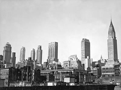 The Midtown Manhattan Skyline Art Print by Underwood Archives