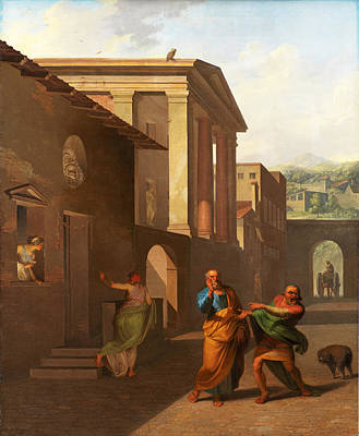 Painting - The Midwife Taking Leave Of The Girl From Andros. From Terence's Andria by Nicolai Abraham Abildgaard