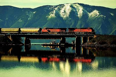 Sandpoint Photograph - The Mighty Burlington Northern by Benjamin Yeager
