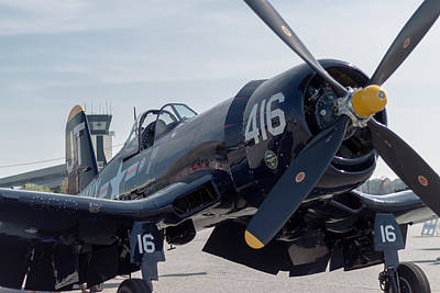 The Mighty Corsair Print by Brandon Hussey