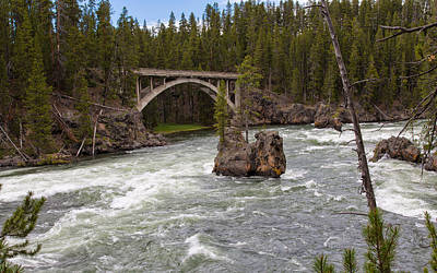 Photograph - The Mighty Yellowstone River by John M Bailey