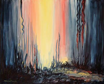 Kristine Painting - The Migration by Kristine Plum