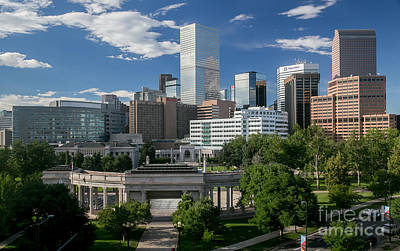 Denver Skyline Photograph - The Mile High City - Denver Colorado Skyline by Bridget Calip