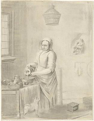 Pour Drawing - The Milkmaid, Jurriaan Cootwijck, Johannes Vermeer by Jurriaan Cootwijck And Johannes Vermeer