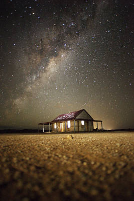 Photograph - The Milky Way And An Outback Shed by David Trood
