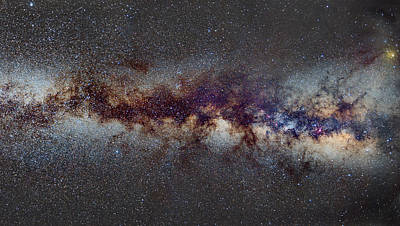 The Milky Way From Scorpio Antares And Sagitarius To Scutum And Cygnus Art Print by Guido Montanes Castillo