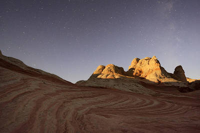 Pocket Stones Photograph - The Milky Way In The Night Sky Above by Peter Carroll