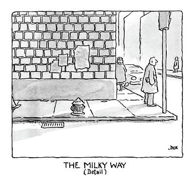 Cartoons Drawing - The Milky Way by John Jonik