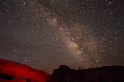 Photograph - The Milky Way Over Mesa Arch by Alan Vance Ley