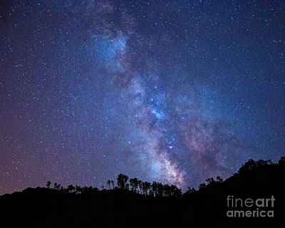 The Milky Way Over The Mountain Art Print