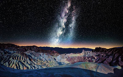 Photograph - The Milky Way Over Zabriskie Point by Matt Anderson Photography