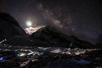 Everest Wall Art - Photograph - The Milky Way Rises Above The Flanks by Jake Norton