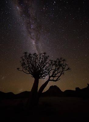 The Milky Way Slashes Across The Night Art Print by Robert Postma