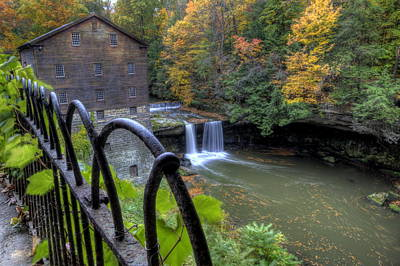 The Mill And Falls At Mill Creek Park Art Print