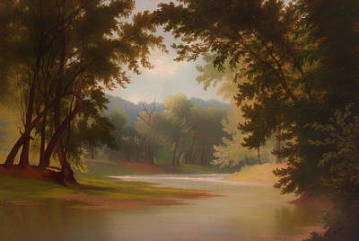 Beautiful Creek Painting - The Mill Creek by Mountain Dreams