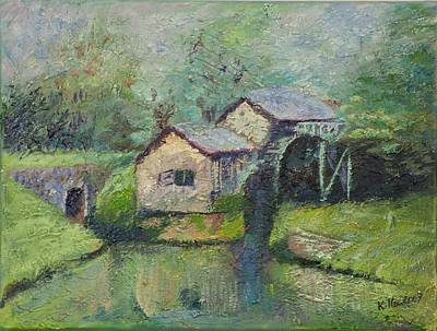 Pallet Knife Painting - The Mill In The Mist by William Killen