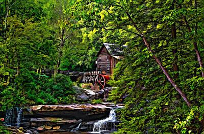 Grist Mill Photograph - The Mill Paint 2 by Steve Harrington