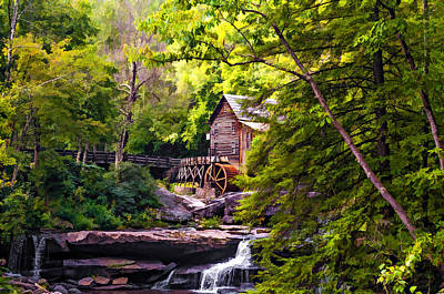 Old Fashioned Photograph - The Mill Paint by Steve Harrington