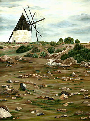 Andalucia Painting - The Mill by Angeles M Pomata