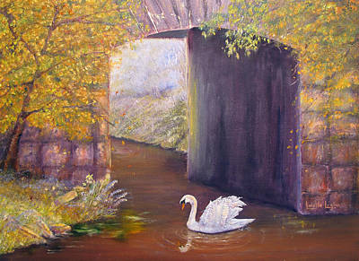Painting - The Mill Swan by Loretta Luglio