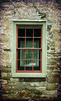 Photograph - The Mill Window  by Debra Fedchin