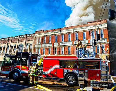 Photograph - The Miller And Brewer Fire by Paul Mashburn