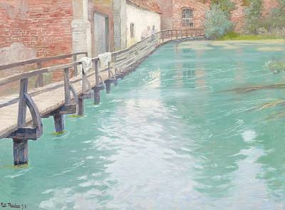The Mills At Montreuil Sur Mer Normandy Print by Fritz Thaulow
