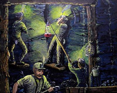 Painting - The Miners Way by Carey MacDonald