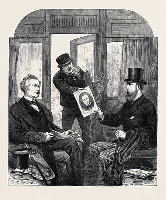 Crisis Drawing - The Ministerial Crisis A Sketch At The Great Western by English School