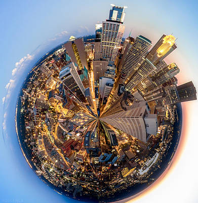 Skyline Photograph - The Minneapolis Planet by Chad Davis