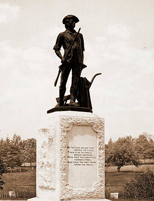 Minutemen Drawing - The Minute Man, Concord, Monuments & Memorials, Minutemen by Litz Collection