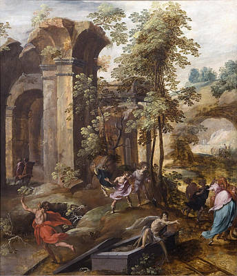 The Miracle At The Grave Of Elisha Print by Celestial Images