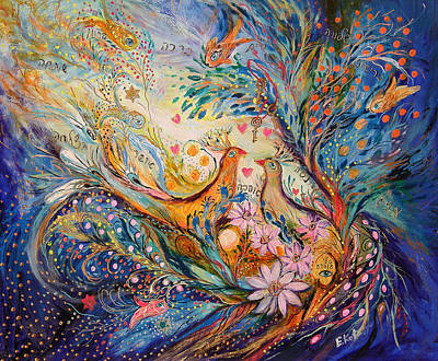 Kabbala Painting - The Miracle Of Love by Elena Kotliarker