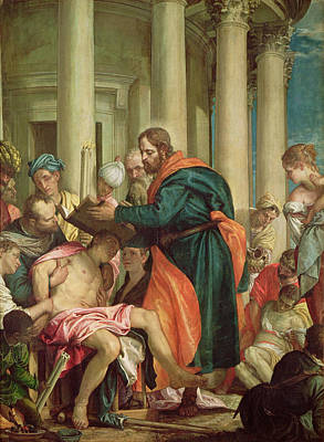 The Miracle Of St. Barnabas, C.1566 Oil On Canvas Art Print by Veronese