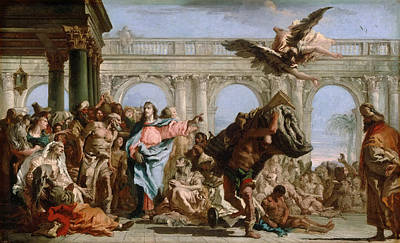 Bethesda Painting - The Miracle Of The Pool Of Bethesda by Giovanni Domenico Tiepolo