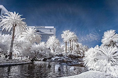 Photograph - The Mirage In Infrared 1 by Jason Chu